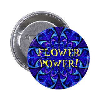 Flower Power Metal Button