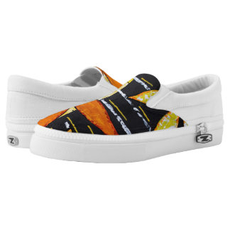 Flower Power Slip On Shoes Printed Shoes