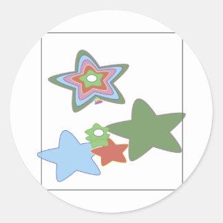 flowers-easter round sticker