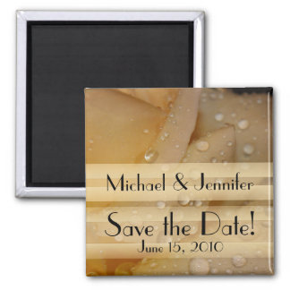 Flowers Floral Garden Save the Date Square Magnet