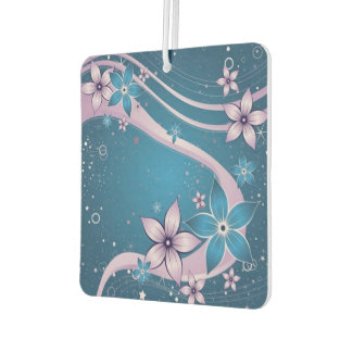Flowers/Square Air Freshener