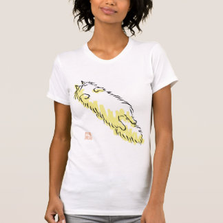 Fluffy Flop Cat (Yellow dot) Tee Shirt