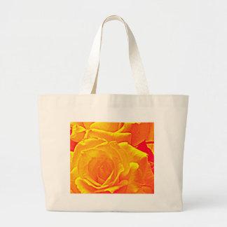 fluorescent rose orange jumbo tote bag