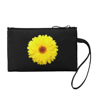 Fluorescent Yellow Marigold Bagettes Bag Coin Wallets