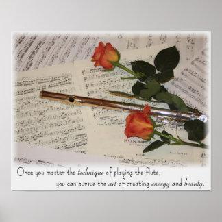 Flute - Art of Energy & Beauty Poster