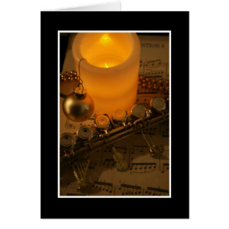 Flute Candle Notation Greeting Card
