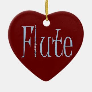 Flute Ceramic Heart Decoration