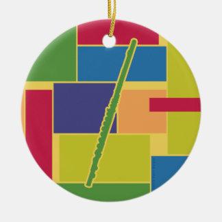Flute Colorblocks Ornament