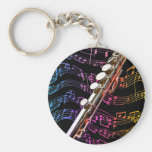 Flute is my Passion_ Basic Round Button Key Ring