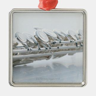 Flute Silver-Colored Square Decoration