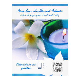 Flyer Template Blue Spa