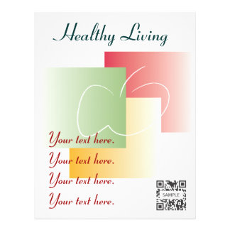 Flyer Template Healthy Living