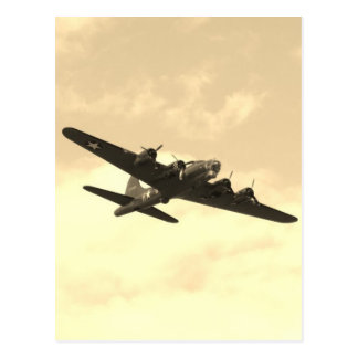 Flying Fortress In Flight Postcard