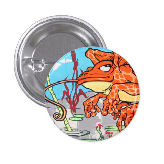 Flying Frog 3 Cm Round Badge