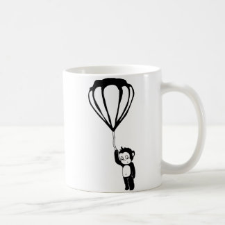 flying monkey : hot air balloon basic white mug