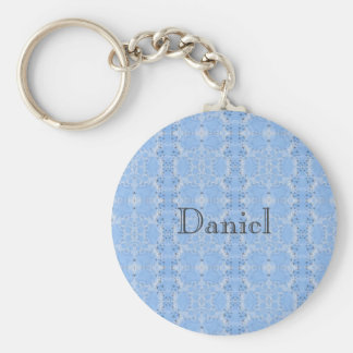 Flying out of Fractal Clouds Pattern Basic Round Button Key Ring