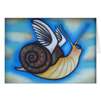 flying snails n puppy dog tails greeting card