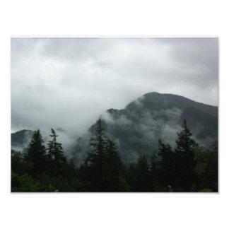 Fog Shrouded Mountaintop Photo Art