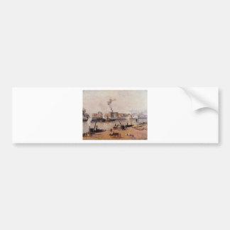 Foggy Morning, Rouen by Camille Pissarro Bumper Sticker