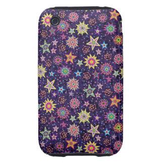 Folk Art Starry Sky iPhone 3 Tough Cover