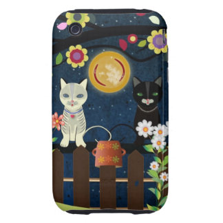 Folk Cats Sitting On A Brunch, ..., iPhone 3 Case