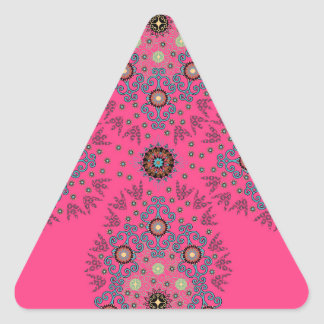 Folksy Jewel Triangle Sticker