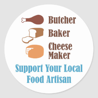 Food Artisan Round Sticker