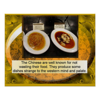 Food Studies, Chinese, Unusual meals Poster