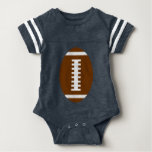 FOOTBALL BABY Navy Blue | Front Football Graphic Infant Bodysuit