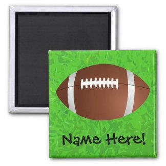 Football Field Junior Varsity Square Magnet