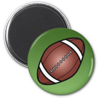 Football Rugby Ball 6 Cm Round Magnet