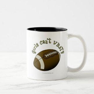 Football - Yellow Text Two-Tone Mug