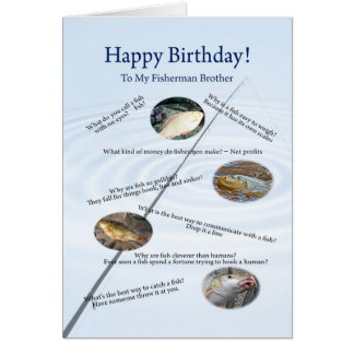 For brother, Fishing jokes birthday card