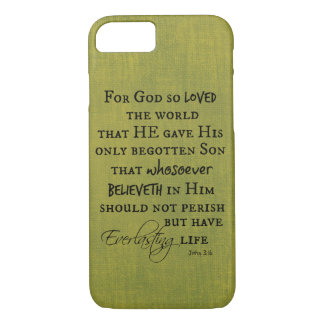 For God so Loved the World John 3.16 Bible Verse iPhone 7 Case