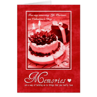 for Life Partner on Valentine's Day - Romantic Greeting Card
