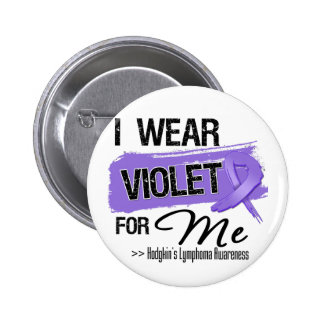 For Me Hodgkins Lymphoma Ribbon 6 Cm Round Badge