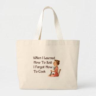 Forgetful Knitter Jumbo Tote Bag
