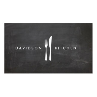 Fork & Knife Logo 3 for Chef, Foodie, Restaurant Pack Of Standard Business Cards