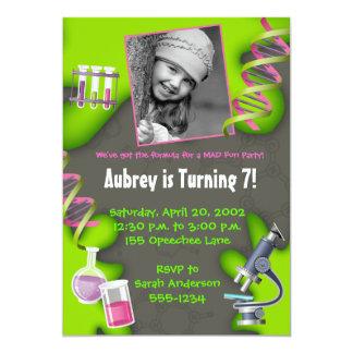 Formula for Fun - Girls 13 Cm X 18 Cm Invitation Card