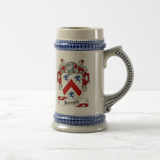 Forsyth Coat of Arms Stein - Family Crest Beer Steins