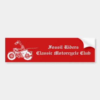 Fossil Rider in White Bumper Sticker