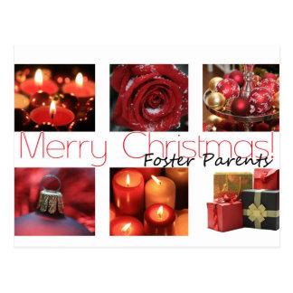 foster parents Merry Christmas card Postcard