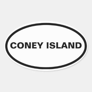 FOUR Coney Island Oval Sticker