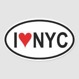"FOUR ""I [heart] NYC"" Oval Sticker"