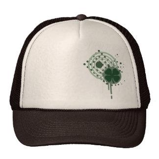 four leaf clover : hypnotic bubbles : cap