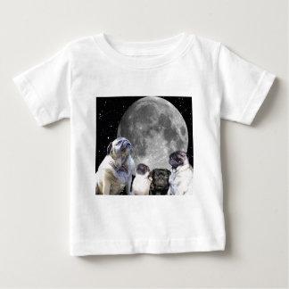 Four Pug Moon Infant Cotton Jersey T-Shirt