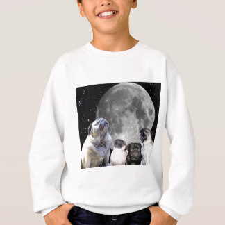 Four Pug Moon Tee Shirts