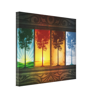 Four Seasons Canvas Prints