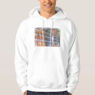 Four string bass bridge close up photo grunge pullover