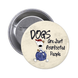 Fourfooted People 6 Cm Round Badge